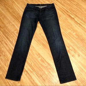 7 For All Mankind Straight Leg Dark Wash Jeans
